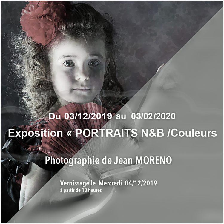 "Exposition ""PORTRAITS"" Jean Moreno"